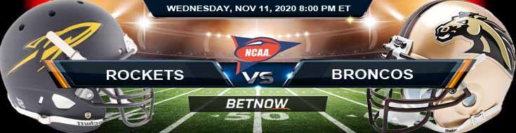 Toledo Rockets vs Western Michigan Broncos 11-11-2020 NCAAF Predictions Picks & Previews