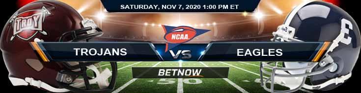 Troy Trojans vs Georgia Southern Eagles 11-07-2020 Previews NCAAF Predictions and Picks