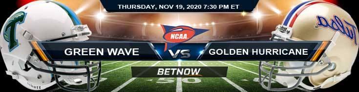 Tulane Green Wave vs Tulsa Golden Hurricane 11-19-2020 Football Betting Picks & NCAAF Tips
