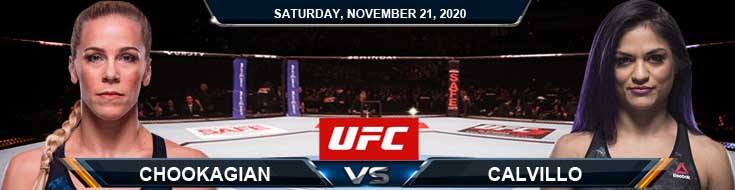 UFC 255 Chookagian vs Calvillo 11-21-2020 Previews Spread and Fight Analysis