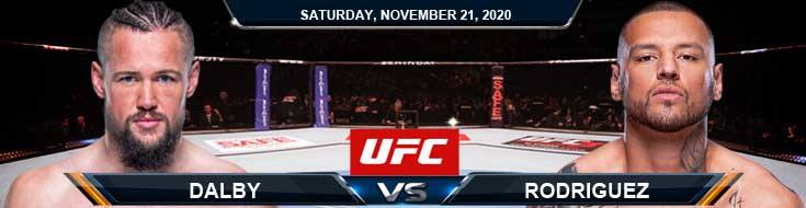 UFC 255 Dalby vs Rodriguez 11-21-2020 Tips Results and Analysis