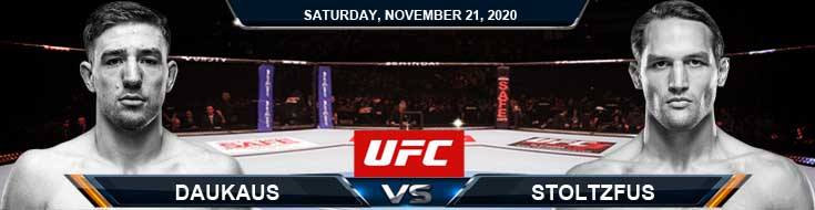 UFC 255 Daukaus vs Stoltzfus 11-21-2020 Forecast Tips and Results