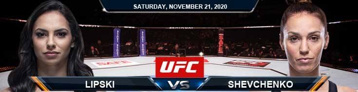 UFC 255 Lipski vs Shevchenko 11-21-2020 Tips Results and Analysis