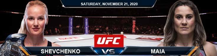 UFC 255 Shevchenko vs Maia 11-21-2020 Picks Predictions and Previews