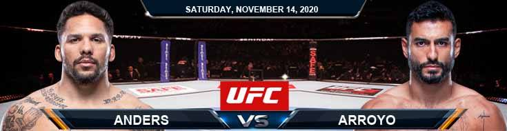 UFC Fight Night 183 Anders vs Arroyo 11-14-2020 Spread Fight Analysis and Forecast