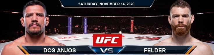UFC Fight Night 183 Dos Anjos vs Felder 11-14-2020 Odds Picks and Predictions
