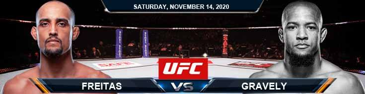 UFC Fight Night 183 Freitas vs Gravely 11-14-2020 Picks Predictions and Previews