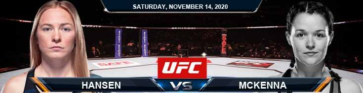 UFC Fight Night 183 Hansen vs McKenna 11-14-2020 Forecast Tips and Results