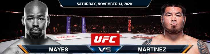 UFC Fight Night 183 Mayes vs Martinez 11-14-2020 Predictions Previews and Spread