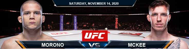 UFC Fight Night 183 Morono vs McKee 11-14-2020 Results Analysis and Odds