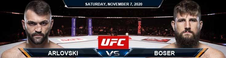 UFC on ESPN 17 Arlovski vs Boser 11-07-2020 Picks Predictions and Previews