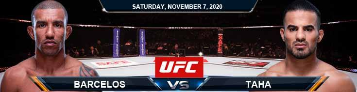 UFC on ESPN 17 Barcelos vs Taha 11-07-2020 Predictions Previews and Spread