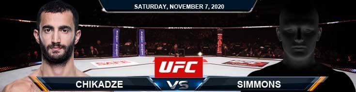 UFC on ESPN 17 Chikadze vs Krause-Simmons 11-07-2020 Spread Fight Analysis and Forecast