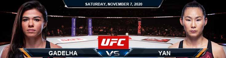 UFC on ESPN 17 Gadelha vs Yan 11-07-2020 Previews Spread and Fight Analysis