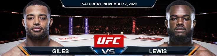 UFC on ESPN 17 Giles vs Lewis 11-07-2020 Fight Analysis Forecast and Tips