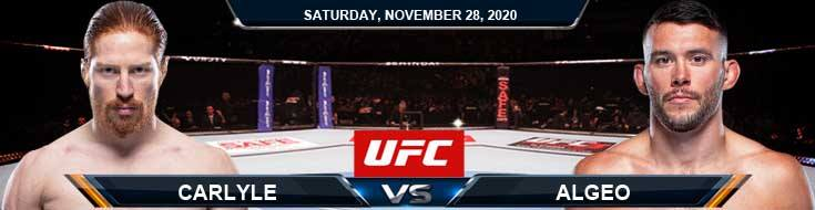 UFC on ESPN 18 Carlyle vs Agleo 11-28-2020 Spread Fight Analysis and Forecast