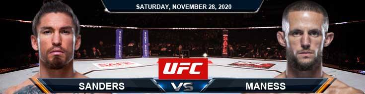 UFC on ESPN 18 Sanders vs Maness 11-28-2020 Odds Picks and Predictions