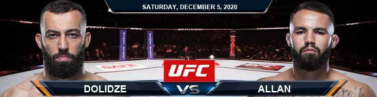 UFC on ESPN 19 Dolidze vs Allan 12-05-2020 Previews Spread and Fight Analysis