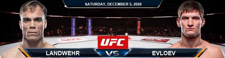 UFC on ESPN 19 Landwehr vs Evloev 12-05-2020 Spread Fight Analysis and Forecast