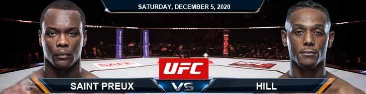 UFC on ESPN 19 Saint Preux vs Hill 12-05-2020 Picks Predictions and Previews