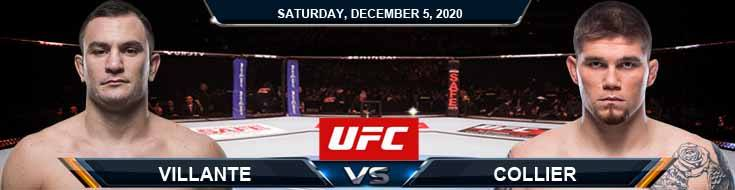 UFC on ESPN 19 Villante vs Collier 12-05-2020 Fight Analysis Forecast and Tips
