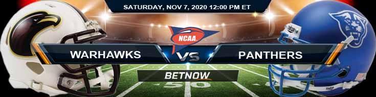 UL-Monroe Warhawks vs Georgia State Panthers 11-07-2020 NCAAF Tips Odds & Predictions