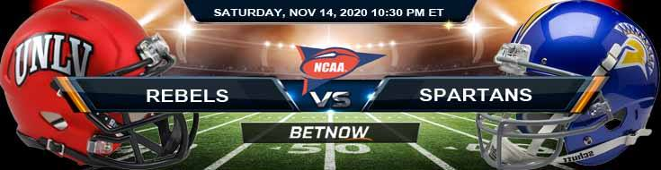 UNLV Rebels vs San Jose State Spartans 11-14-2020 NCAAF Predictions Previews & Spread