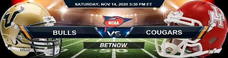 USF Bulls vs Houston Cougars 11-14-2020 NCAAF Tips Previews & Game Analysis