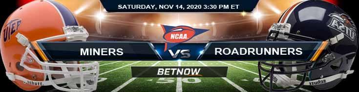 UTEP Miners vs UTSA Roadrunners 11-14-2020 NCAAF Previews Tips & Game Analysis