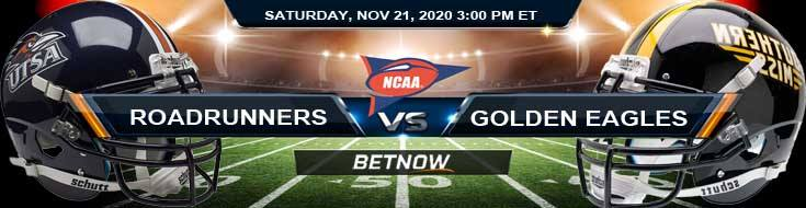 UTSA Roadrunners vs Southern Miss Golden Eagles 11-21-2020 NCAAF Odds, Previews & Tips