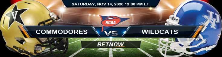 Vanderbilt Commodores vs Kentucky Wildcats 11-14-2020 NCAAF Odds Previews & Tips