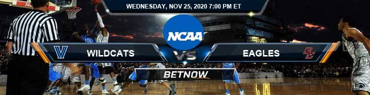 Villanova Wildcats vs Boston College Eagles 11-25-2020 NCAAB Odds Picks & Predictions