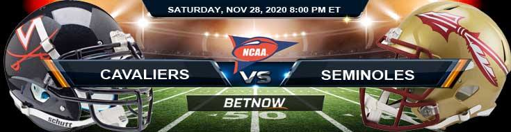 Virginia Cavaliers vs Florida State Seminoles 11-28-2020 NCAAF Tips Forecast & Analysis