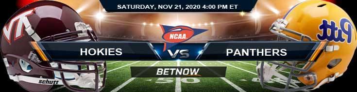 Virginia Tech Hokies vs Pittsburgh Panthers 11-21-2020 NCAAF Tips Odds & Predictions