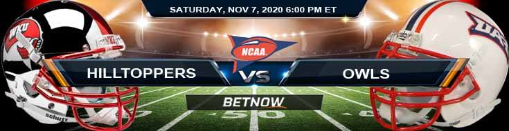 WKU Hilltoppers vs Florida Atlantic Owls 11-07-2020 NCAAF Tips Game Analysis and Spread