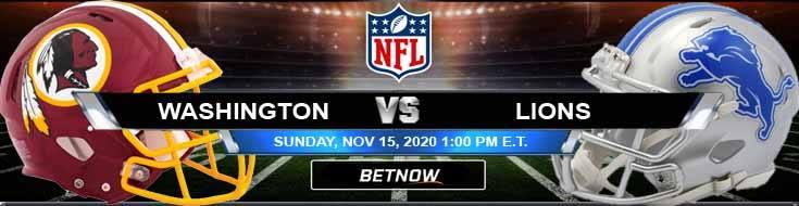 Washington Football Team vs Detroit Lions 11-15-2020 Game Analysis Tips and NFL Forecast