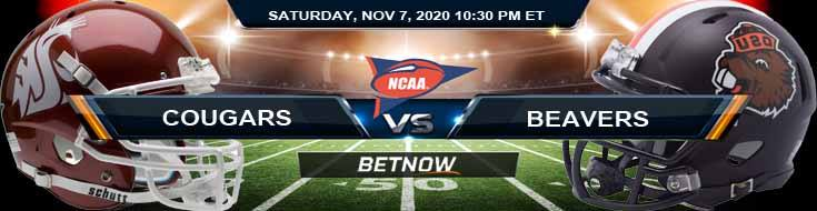 Washington State Cougars vs Oregon State Beavers 11-07-2020 Football Betting Results and NCAAF Analysis