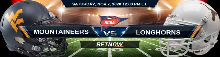 West Virginia Mountaineers vs Texas Longhorns 11-07-2020 Football Betting NCAAF Results and Analysis