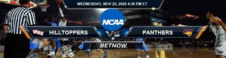 Western Kentucky Hilltoppers vs Northern Iowa Panthers 11-25-2020 NCAAB Results Odds & Predictions