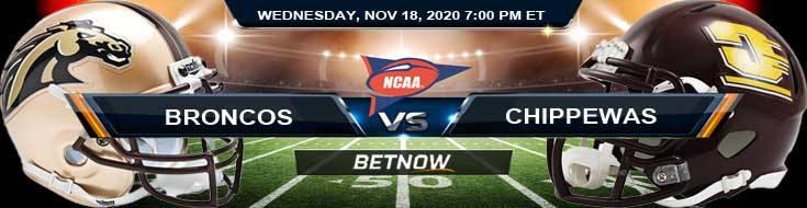 Western Michigan Broncos vs Central Michigan Chippewas 11-18-2020 NCAAF Tips Forecast & Analysis