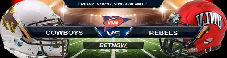 Wyoming Cowboys vs UNLV Rebels 11-27-2020 NCAAF Picks Previews & Game Analysis