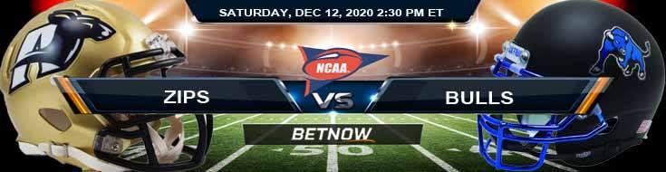 Akron Zips vs Buffalo Bulls 12-12-2020 NCAAF Odds Picks & Predictions