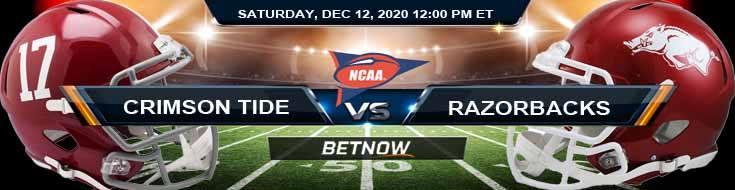 Alabama Crimson Tide vs Arkansas Razorbacks 12-12-2020 Picks NCAAF Predictions & Previews