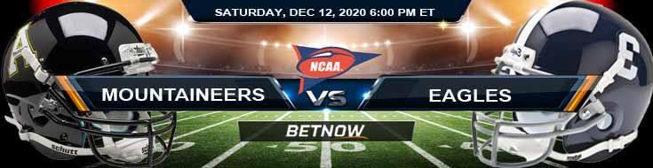 Appalachian State Mountaineers vs Georgia Southern Eagles 12-12-2020 Tips NCAAF Odds & Picks