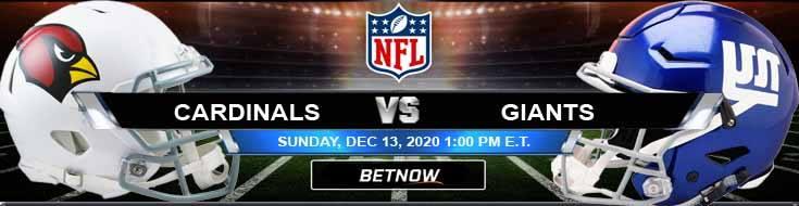 Arizona Cardinals vs New York Giants 12-13-2020 Picks Predictions and Previews