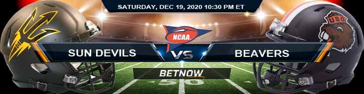 Arizona State Sun Devils vs Oregon State Beavers 12-19-2020 NCAAF Forecast Odds & Spread