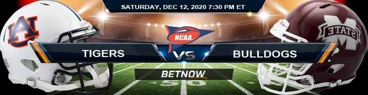 Auburn Tigers vs Mississippi State Bulldogs 12-12-2020 NCAAF Spread Picks & Previews