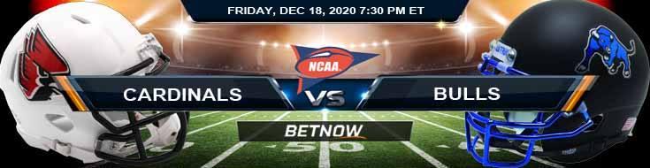 Ball State Cardinals vs Buffalo Bulls 12-18-2020 NCAAF Odds Picks & Predictions