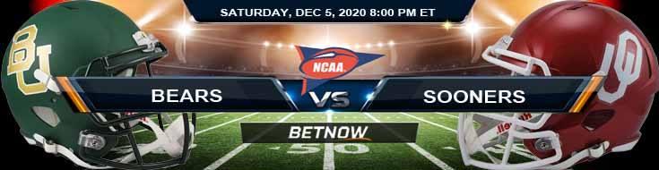 Baylor Bears vs Oklahoma Sooners 12-5-2020 NCAAF Tips Predictions & Odds