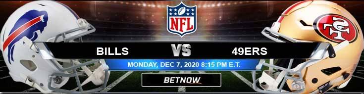 Buffalo Bills vs San Francisco 49ers 12-07-2020 Predictions Previews and Spread